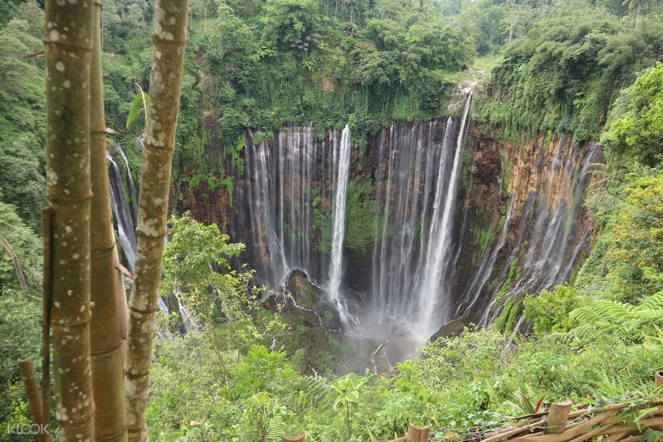 view of tumpak sewu waterfall